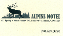 Alpine Motel in Collbran Colorado